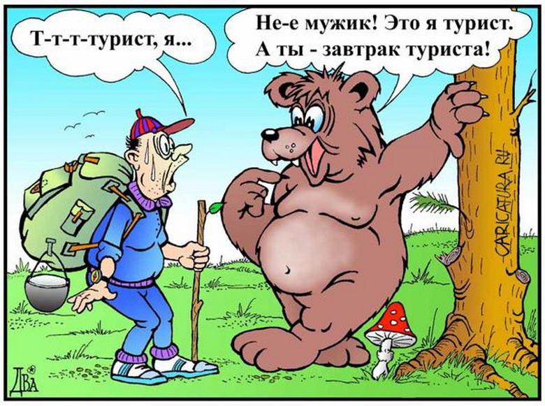 Решил, значит, мужик медведя проучить на рыбалке...