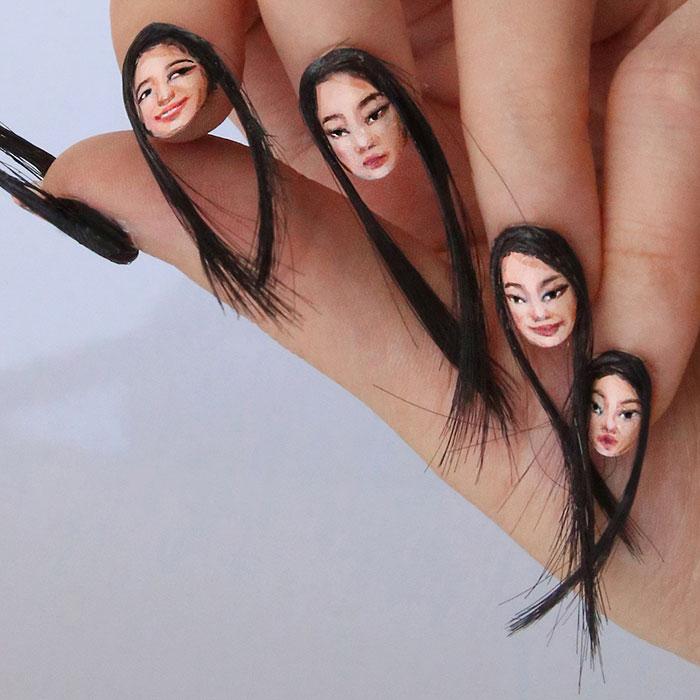 Волосатые ногти - безумный бьюти тренд