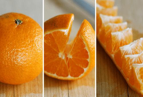 Отличный способ очистить апельсин за десять секунд