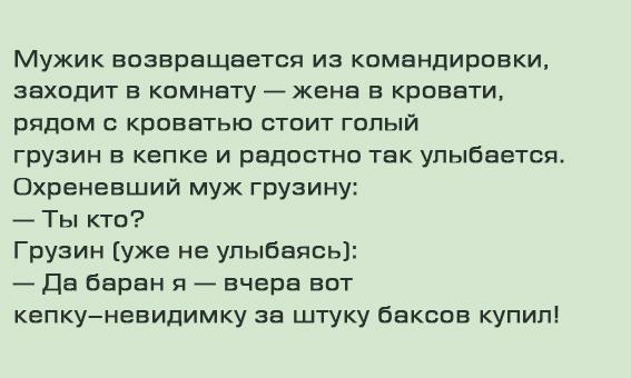 Анекдот про умного грузина